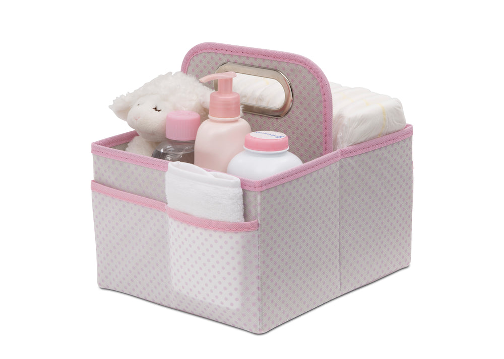 Delta Children Pink Polka Dots (693) Portable Nursery Caddy f2f