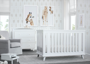 Ava 3 in 1 Crib White (100)