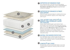 Serta iComfort Dawn Mist Deluxe Firm Foam Crib and Toddler Mattress, a2a No Color (NO)