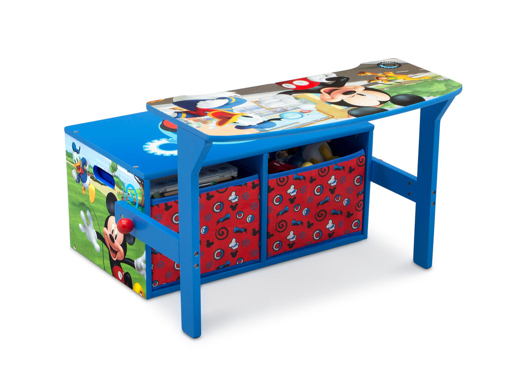 Delta Children Mickey Mouse Activity Bench, Right Desk Silo View