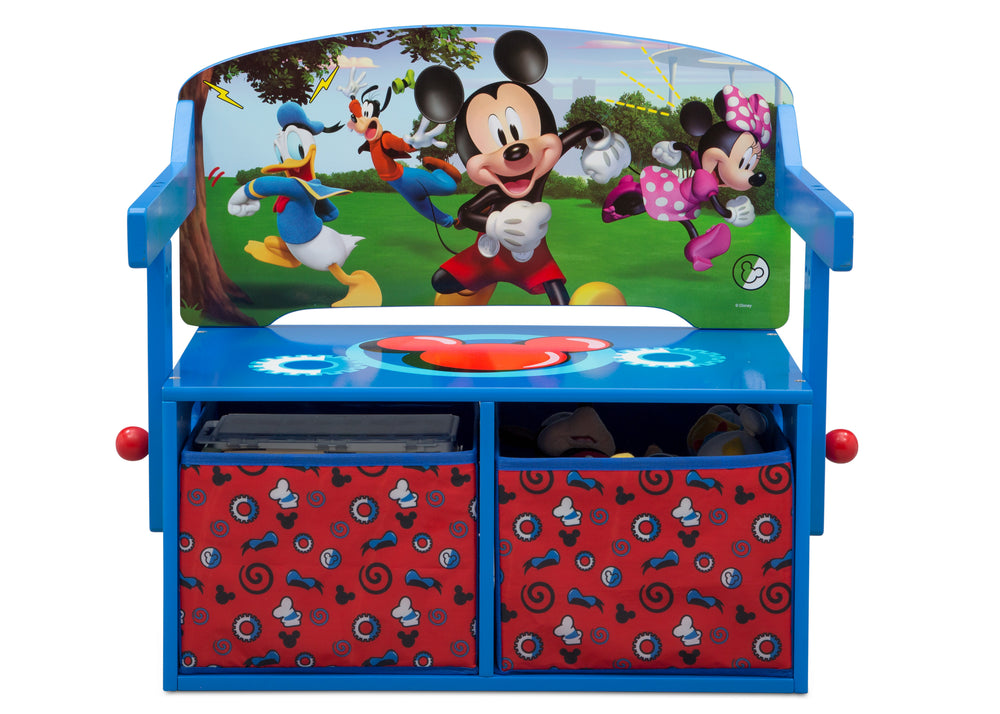Delta Children Mickey Mouse Activity Bench, Front Bench Silo View