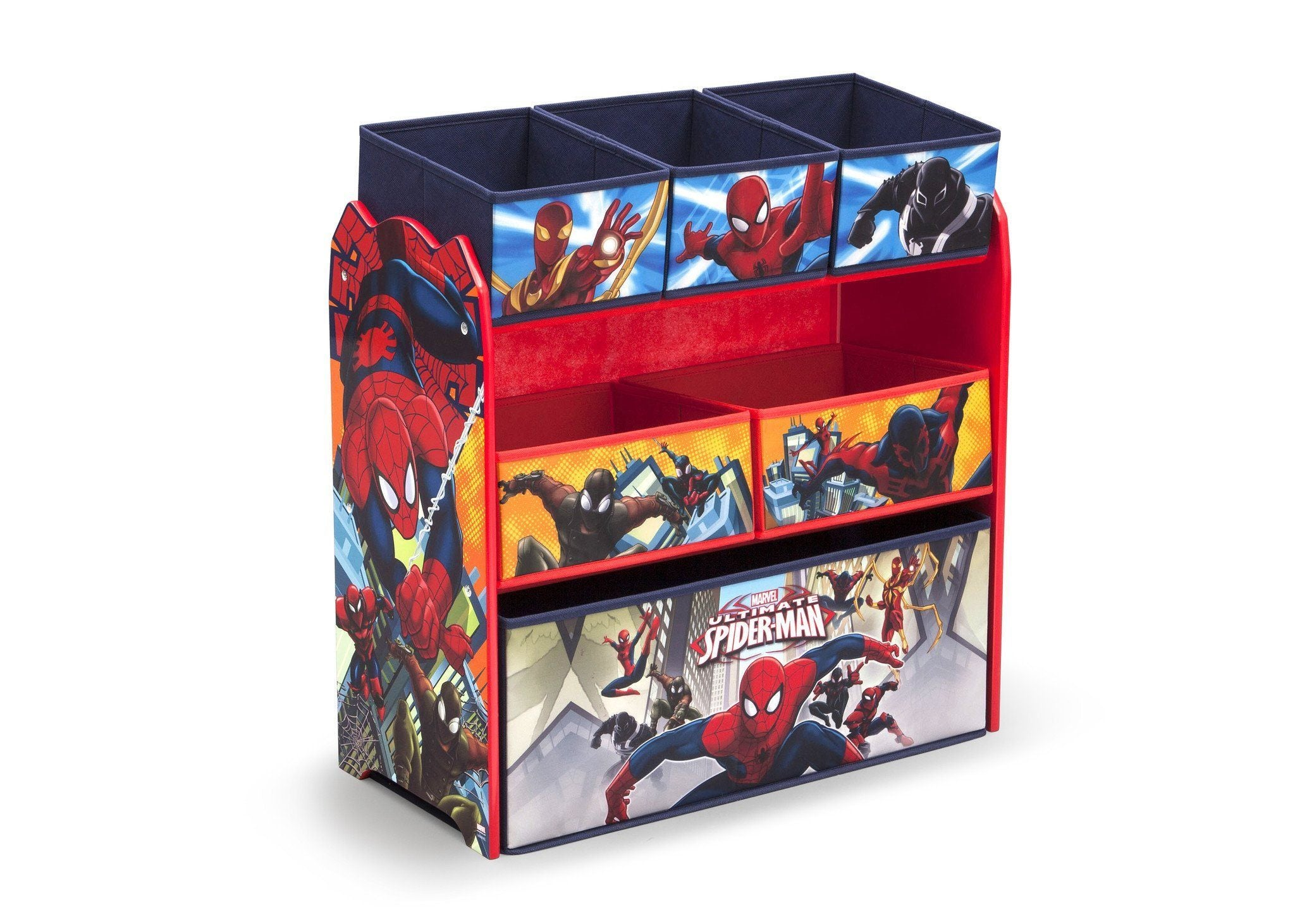 Delta Children Spider-Man Multi-Bin Toy Organizer, Right View a2a