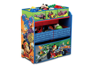 Delta Children Mickey Mouse (1053) Multi-Bin Toy Organizer (TB83242MM-1053), Left View with Props a1a