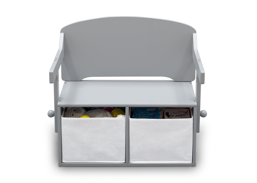 Delta Children Grey (026) MySize Activity Bench, Front Bench Silo View