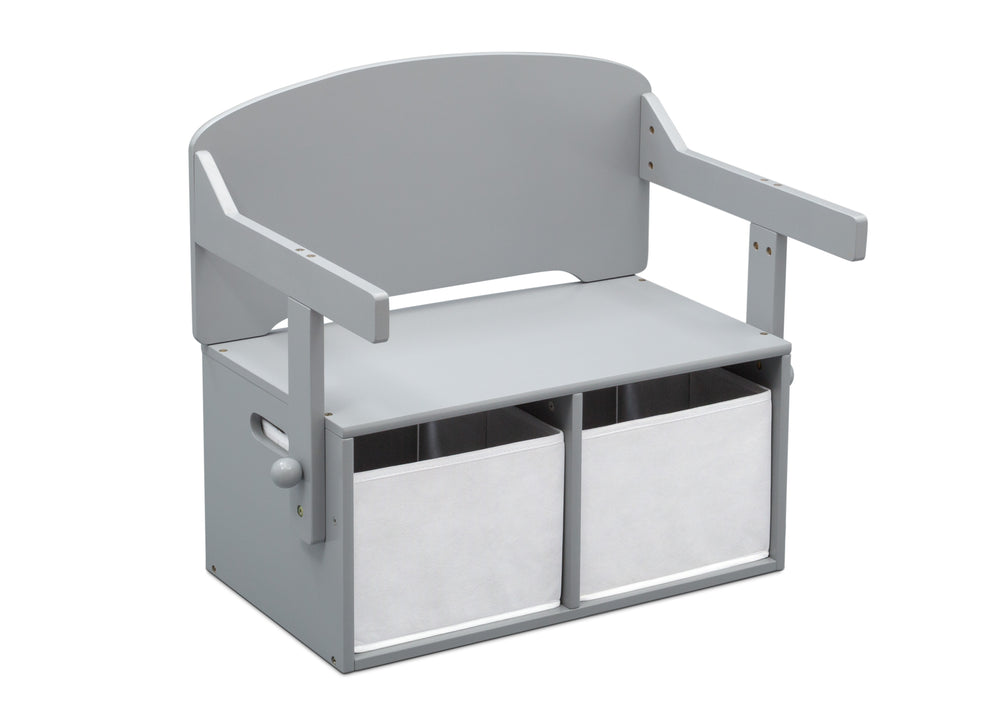 Delta Children Grey (026) MySize Activity Bench, Right Bench Silo View