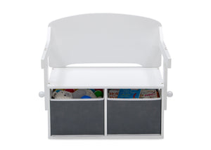 Delta Children Bianca White (130) MySize Activity Bench, Front Bench Silo View