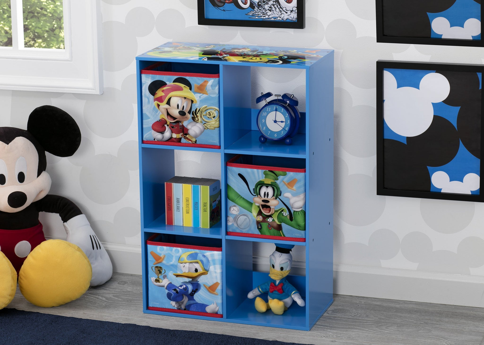 Delta Children Mickey Mouse (1053) 6 Cubby Storage Unit (TB83267MM), Hangtag, a1a