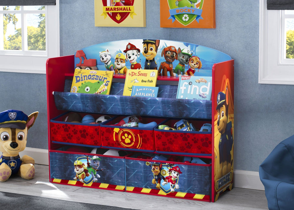 Delta Children Paw Patrol (1121) Deluxe Book and Toy Organizer (TB83271PW) Hangtag, a1a