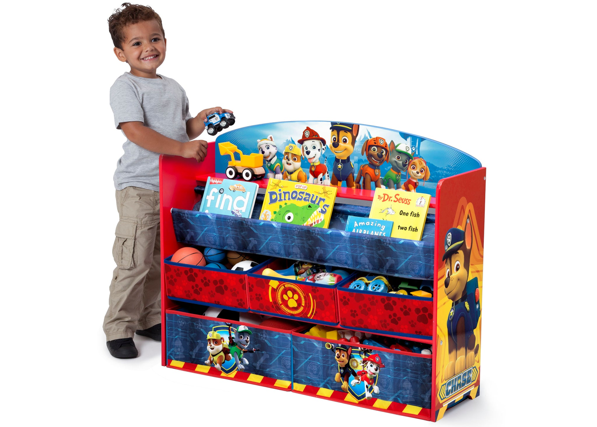 Delta Children Paw Patrol (1121) Deluxe Book and Toy Organizer (TB83271PW) Model, a4a
