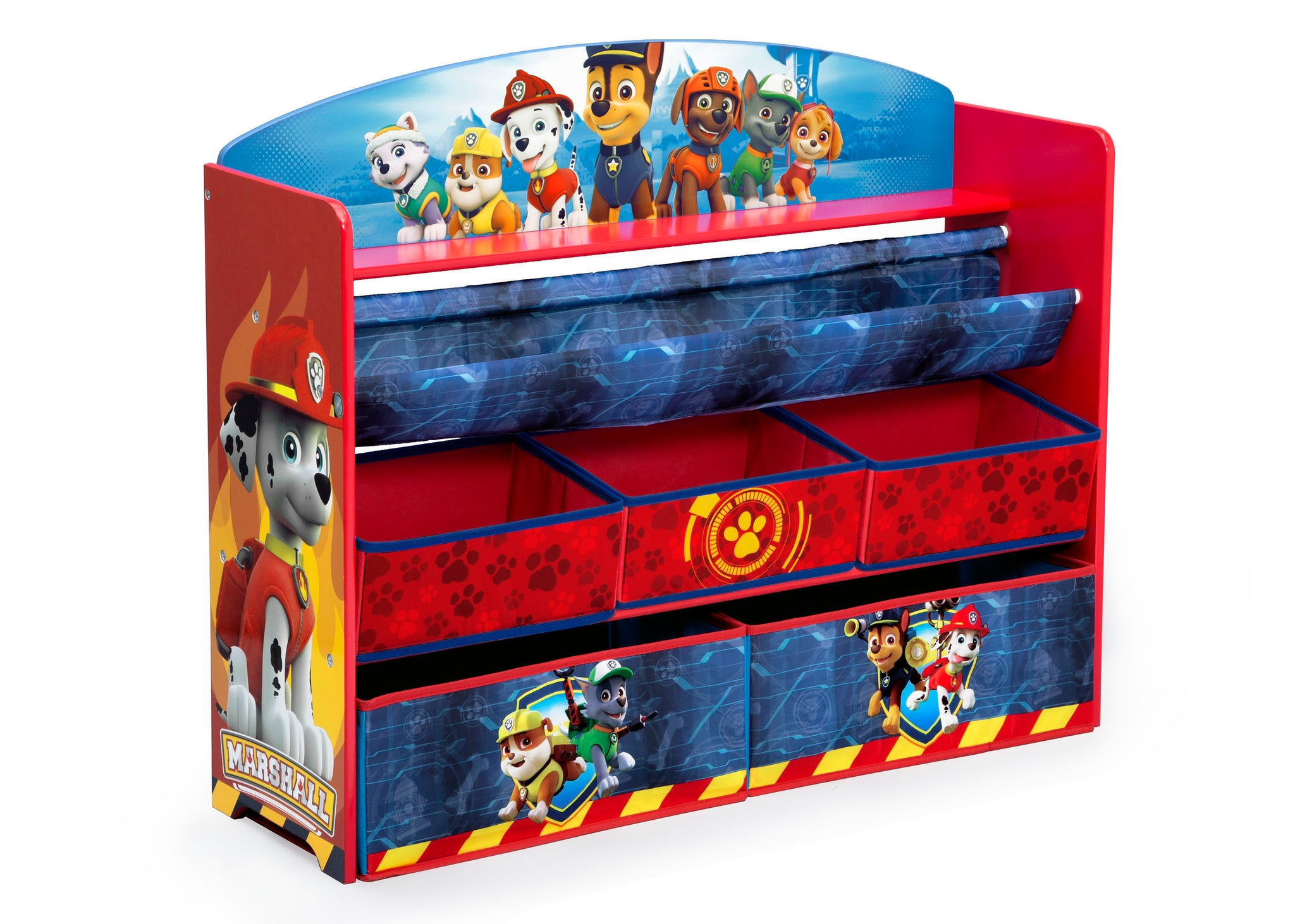 Delta Children Paw Patrol (1121) Deluxe Book and Toy Organizer (TB83271PW) Right Silo, a2a
