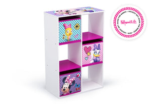 Delta Children Minnie Mouse (1064) 6 Cubby Storage Unit (TB83272MN), Side View, a2a