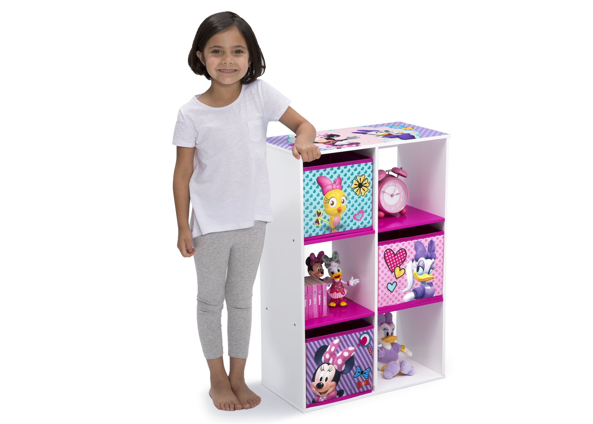 Delta Children Minnie Mouse (1064) 6 Cubby Storage Unit (TB83272MN), With Model, a4a