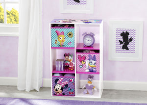 Delta Children Minnie Mouse (1064) 6 Cubby Storage Unit (TB83272MN), Hangtag, a1a