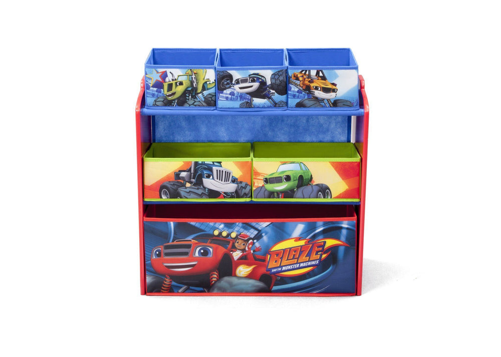Delta Children Blaze and the Monster Machines Multi-Bin Toy Organizer, Front View