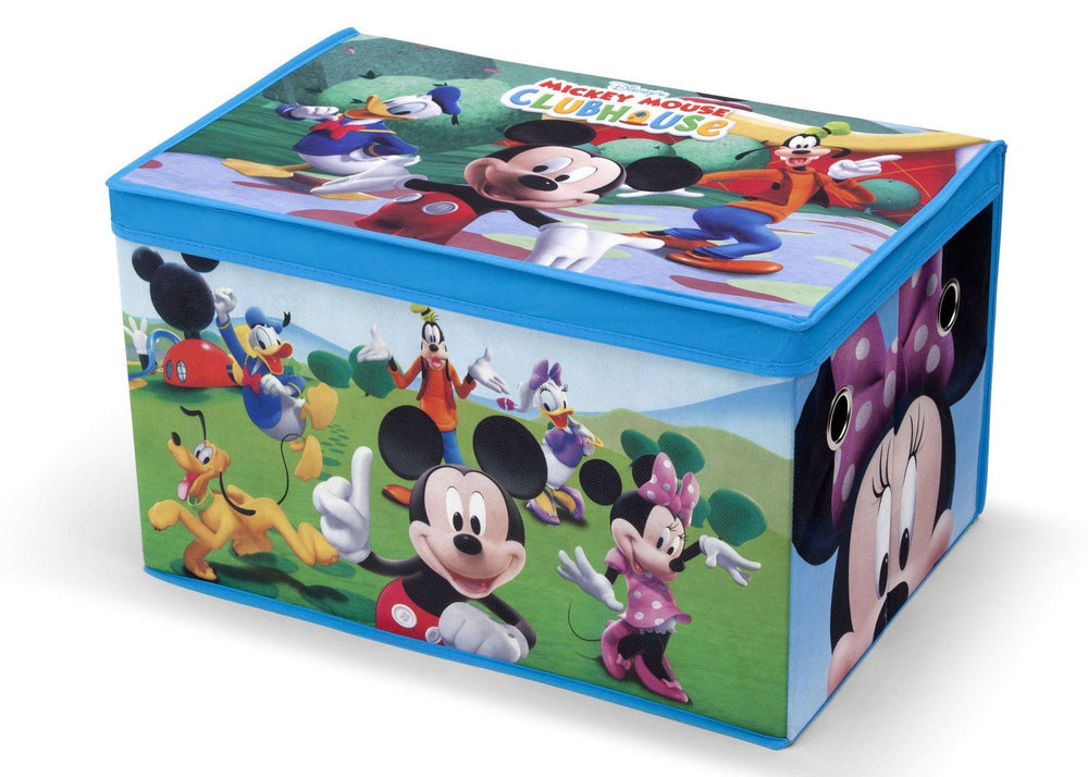 Delta Children Disney Mickey Mouse Toy Box, Left View a2a