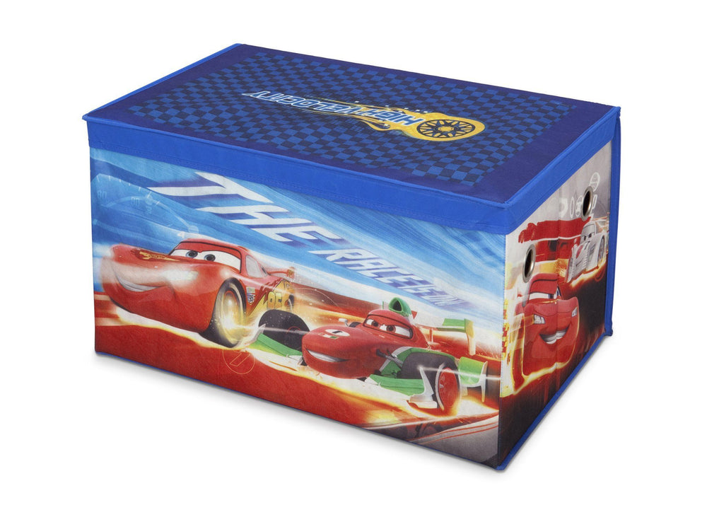 Delta Children Disney/Pixar Cars Toy Box, Left Side View a2a