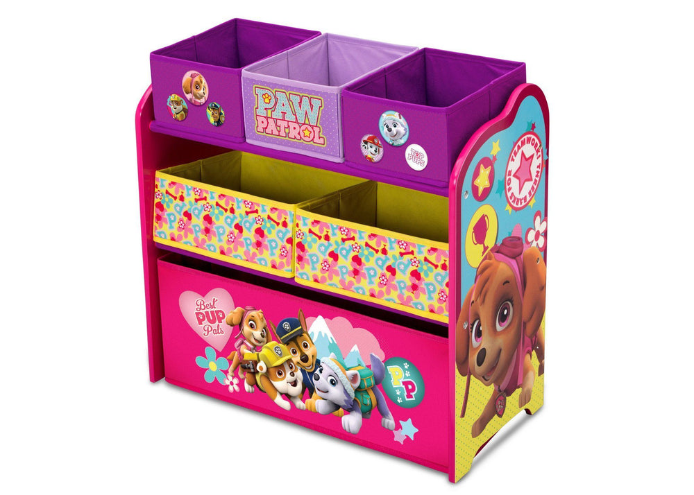 Paw Patrol Kids Toy Organizer Bin Children S Storage Box: PAW Patrol, Skye & Everest Multi-Bin Toy Organizer