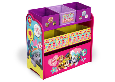 PAW Patrol, Skye & Everest Multi-Bin Toy Organizer