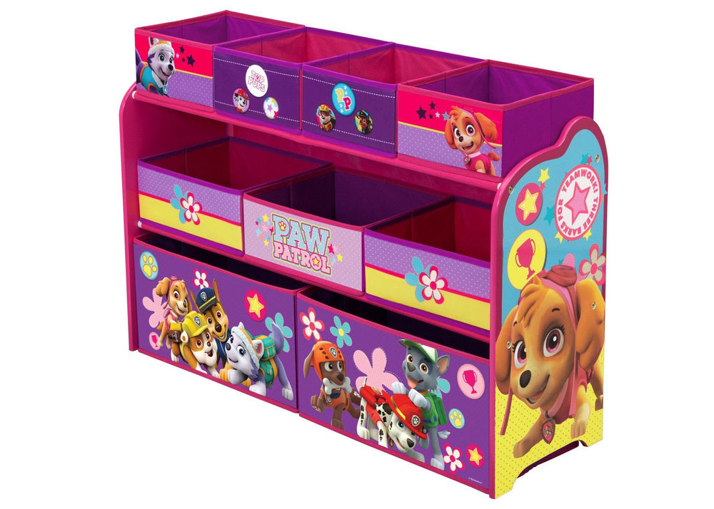PAW Patrol, Skye & Everest Deluxe Multi-Bin Toy Organizer, Left View a2a