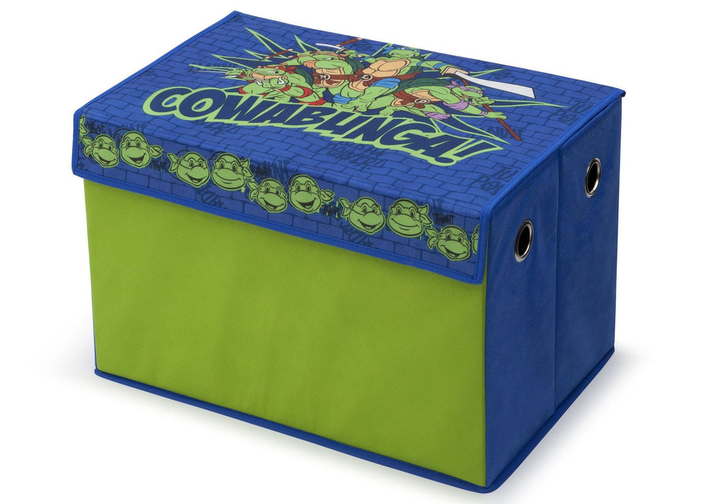 Delta Children Nickelodeon Teenage Mutant Ninja Turtles Toy Box, Left View a2a