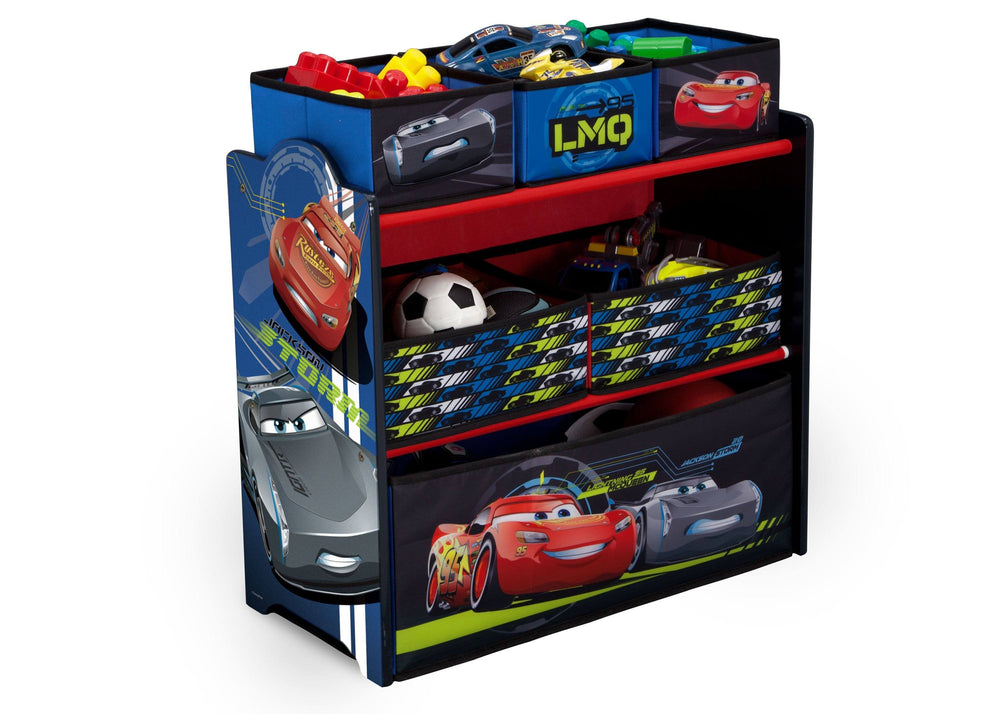 Delta Children Cars Multi-Bin Toy Organizer, Right View, a2a
