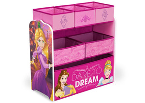 Delta Children Princess Multi-Bin Toy Organizer, Right Side View a1a