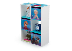 Delta Children Frozen (1091) 6 Cubby Storage Unit (TB83391FZ), Left View with Props, a2a