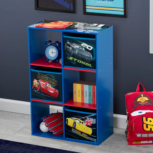 Delta Children Cars (1014) 6 Cubby Storage Unit (TB83393CR), Right View, a1a