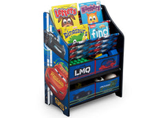 Delta Children Disney Cars (1014) Book and Toy Organizer (TB83395CR), Right Silo with Props, a3a