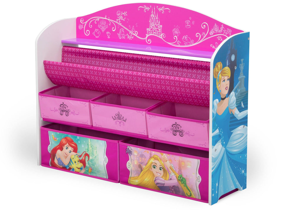 Delta Children Princess (1034) Deluxe Book & Toy Organizer, Left Angle, a2a