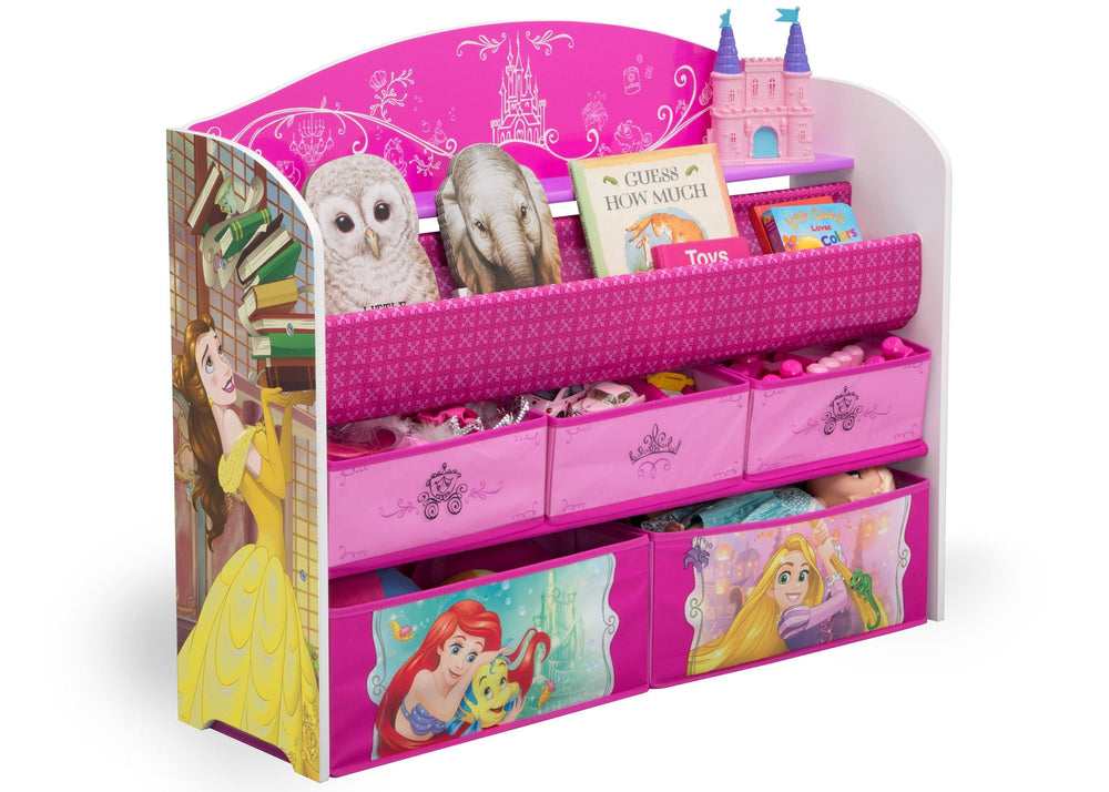 Delta Children Princess (1034) Deluxe Book & Toy Organizer, Right Angle Props, a1a