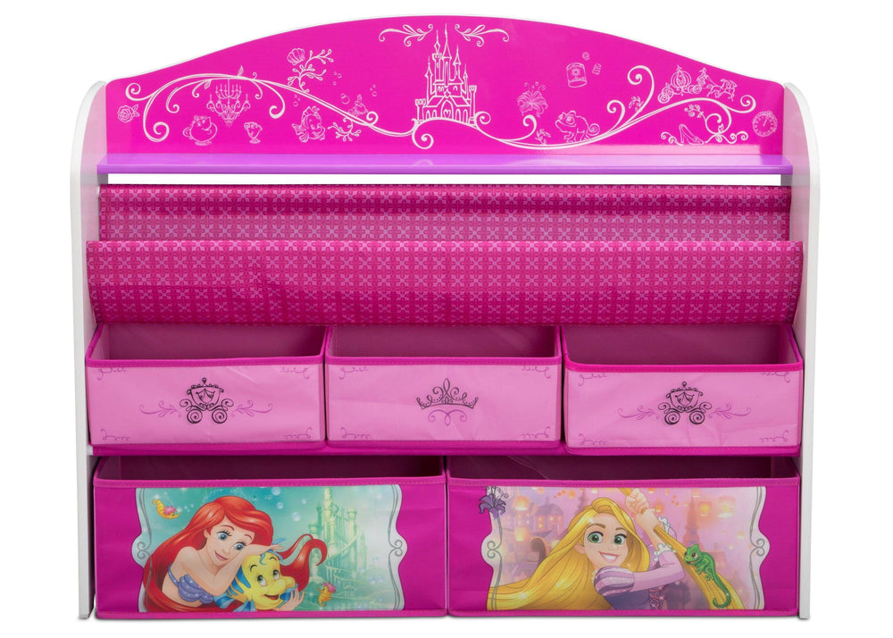 Delta Children Princess (1034) Deluxe Book & Toy Organizer, Front, a3a
