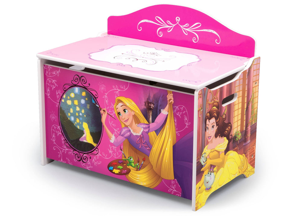 Delta Children Princess (1034) Deluxe Toy Box, Left Angle, a2a