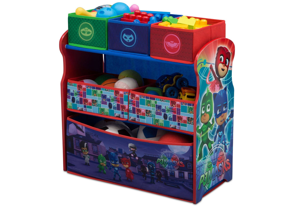 Delta Children PJ Masks Multi-Bin Toy Organizer (TB83411PJ-1170), Left Angle Detail, a2a