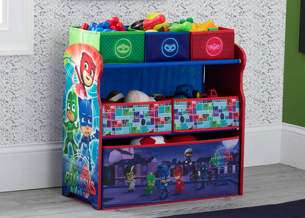Delta Children PJ Masks Multi-Bin Toy Organizer (TB83411PJ-1170), Room, a0a