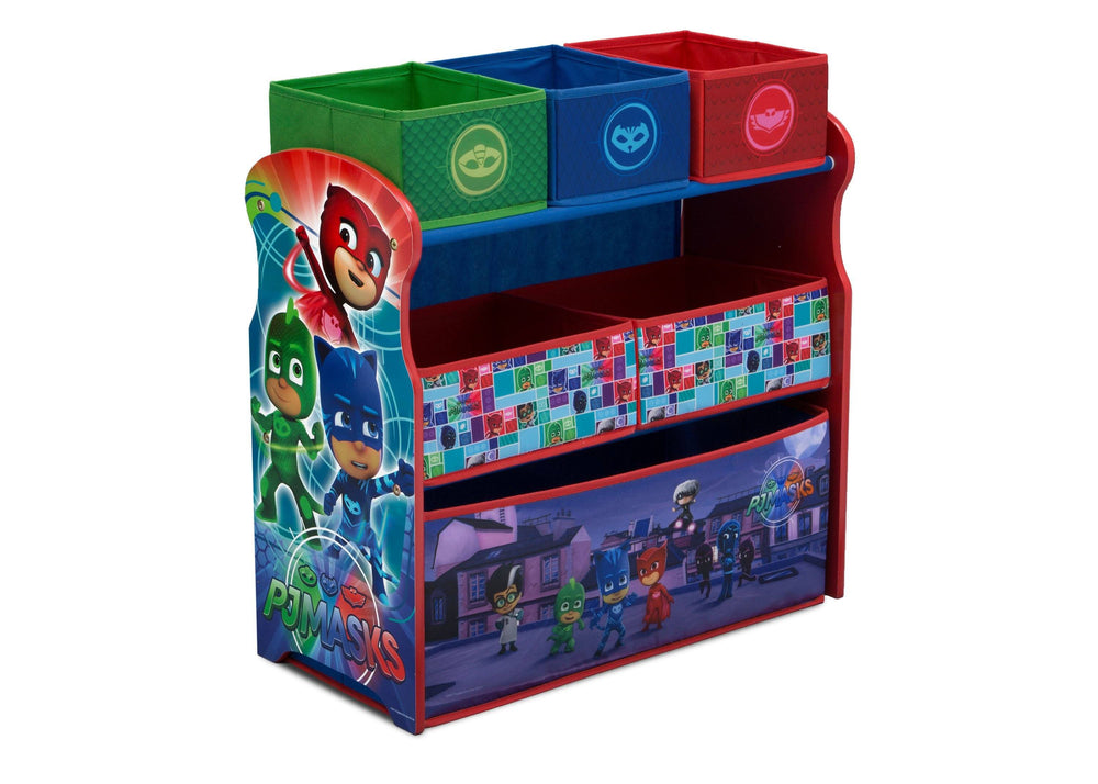 Delta Children PJ Masks Multi-Bin Toy Organizer (TB83411PJ-1170), Right Angle Detail, a1a