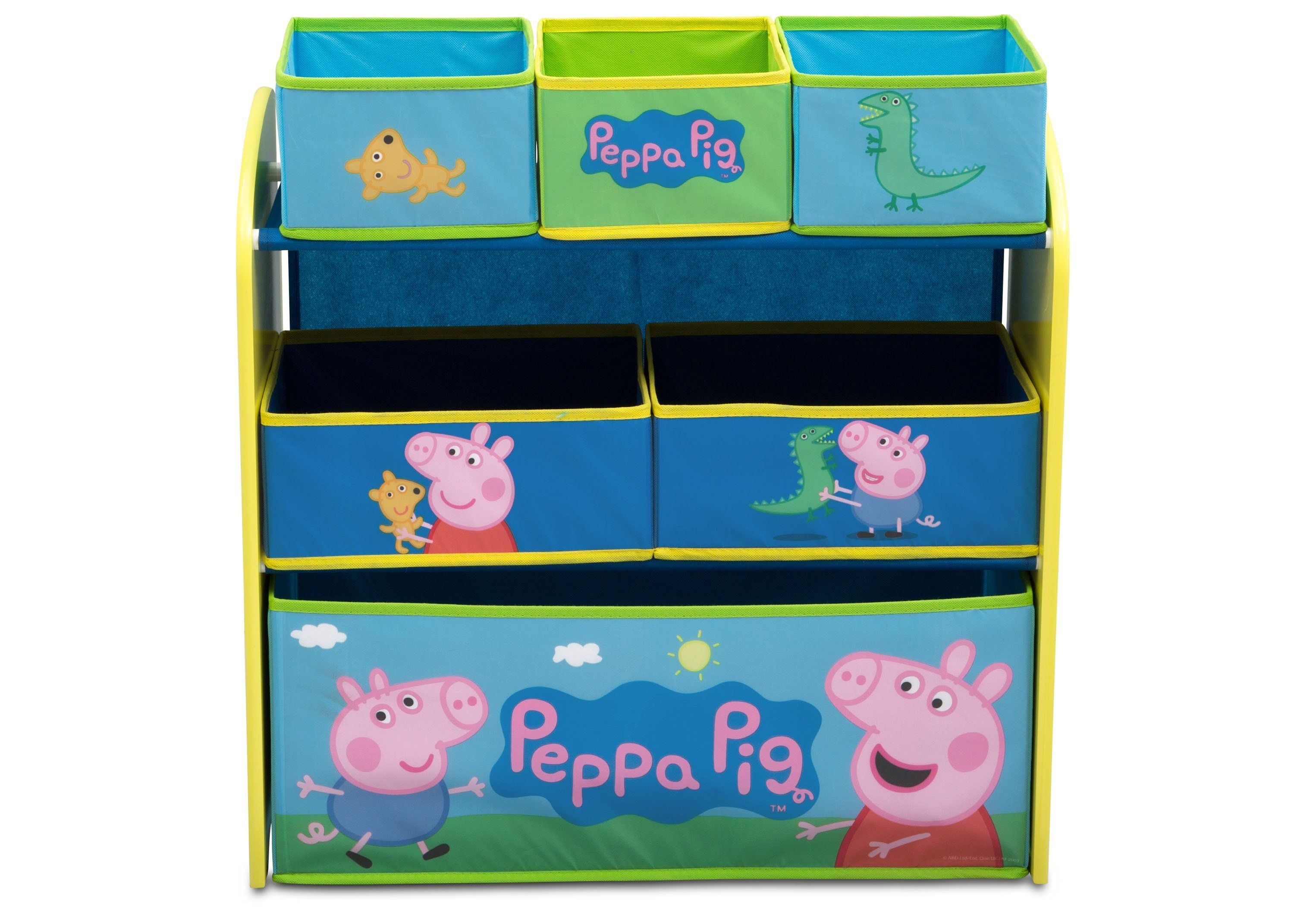 Paw Patrol Toy Organizer Bin Cubby Kids Child Storage Box: Peppa Pig Multi-Bin Toy Organizer