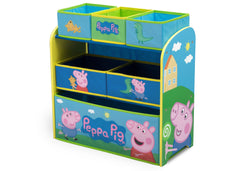 Delta Children Peppa Pig Multi-Bin Toy Organizer (TB83412PG-1171), Left Angle, a2a