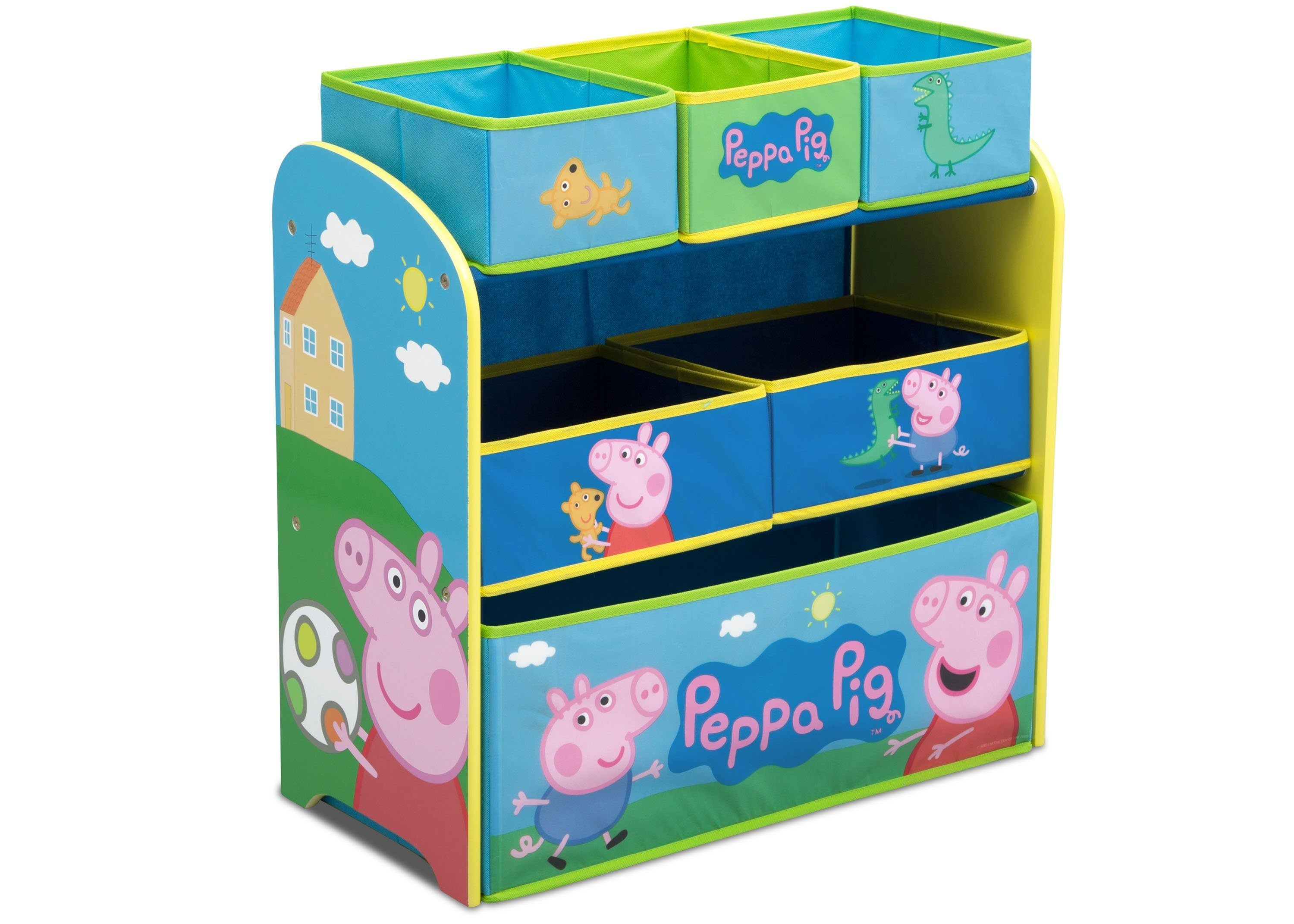 Delta Children Peppa Pig Multi Bin Toy Organizer (TB83412PG 1171), Right ...