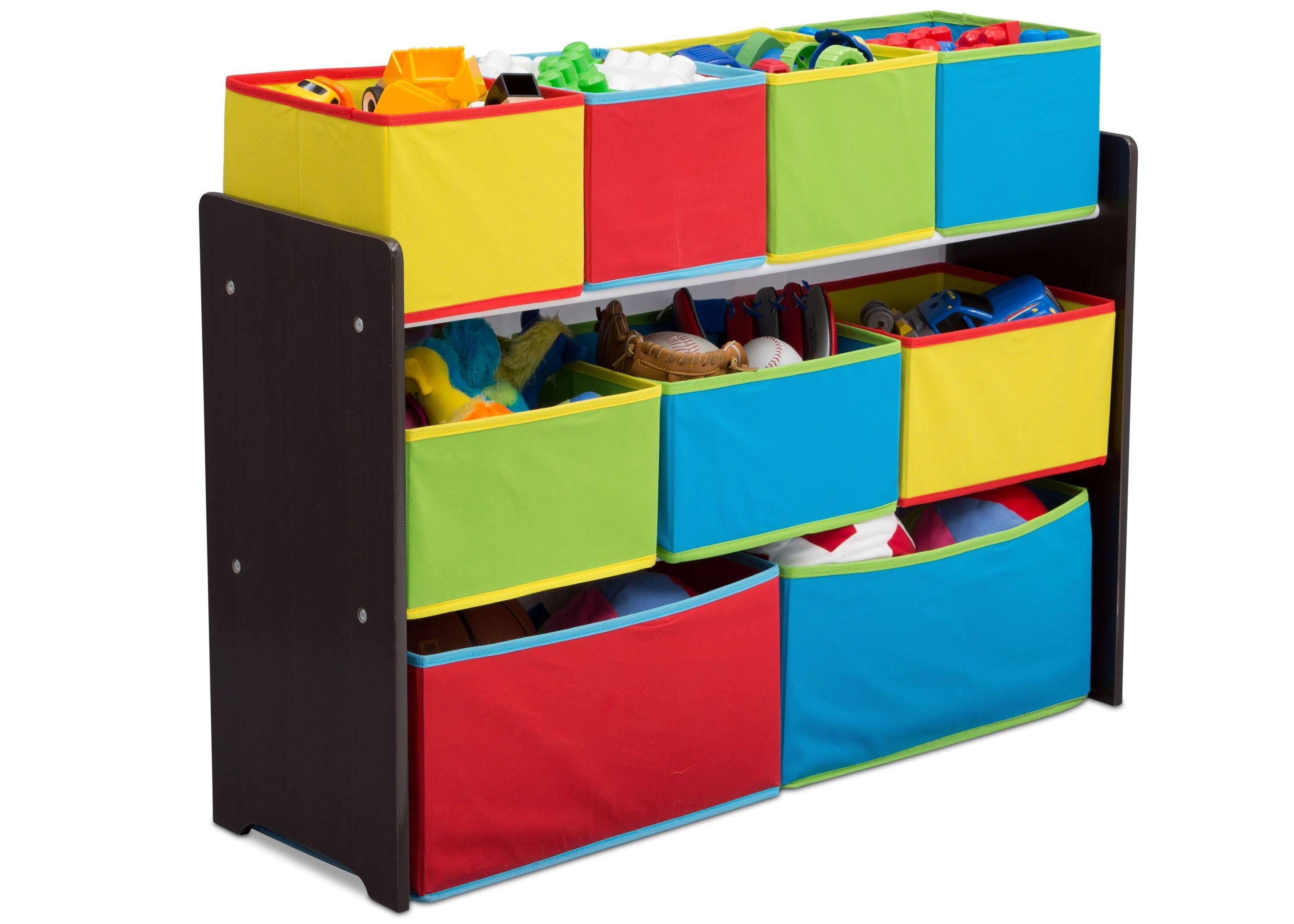 Beau Delta Children Deluxe Multi Bin Toy Organizer With Storage Bins, Dark  Chocolate/Primary ...
