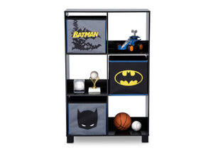 Delta Children Batman (1200) 6 Cubby Deluxe Storage Unit (TB83421BT), Front Silo, a3a