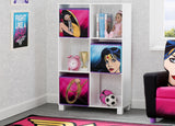 Delta Children Wonder Woman (1210) 6 Cubby Deluxe Storage Unit (TB83423WW), Hangtag, a1a