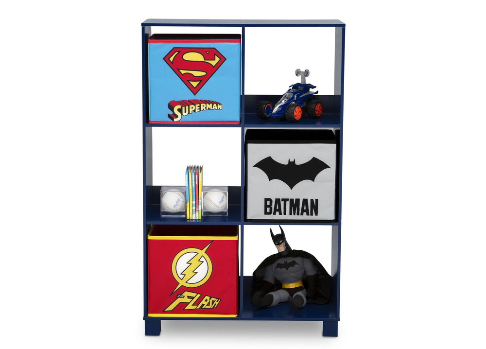 Delta Children Justice League (1215) 6 Cubby Deluxe Storage Unit (TB83424JL), Silo, a3a