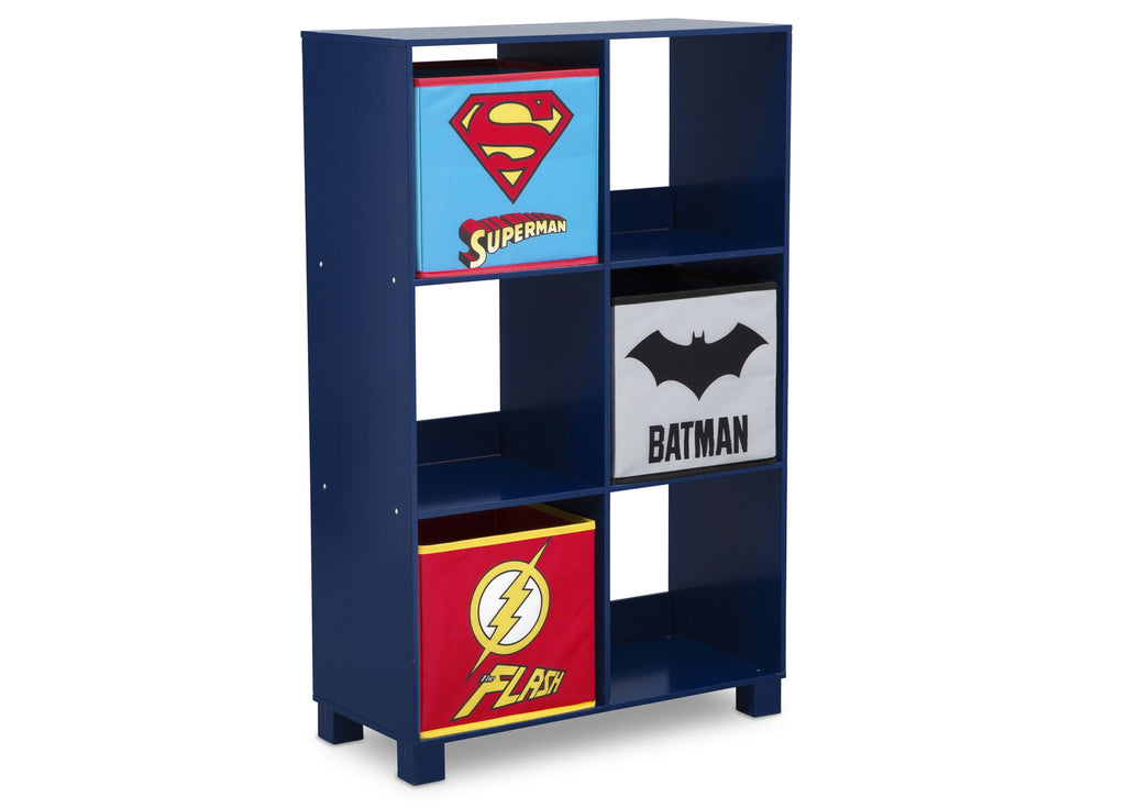 Justice League 6 Cubby Deluxe Storage Unit