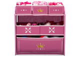 Delta Children Love Girl (1187) Princess Crown Multi-Bin Toy Organizer Front Silo View