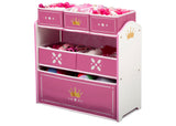 Delta Children Love Girl (1187) Princess Crown Multi-Bin Toy Organizer Left Silo View
