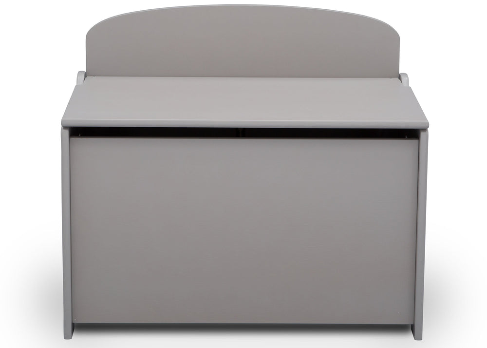Delta Children Grey (026) MySize Deluxe Toy Box, Front, a3a