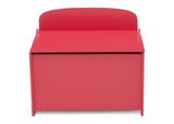 Delta Children Poppy Red (032C) MySize Deluxe Toy Box, Front Silo View