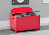 Delta Children Poppy Red (032C) MySize Deluxe Toy Box, Hangtag View