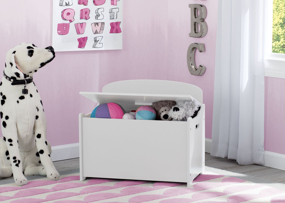 Delta Children Bianca (130) MySize Deluxe Toy Box, Room, b0b